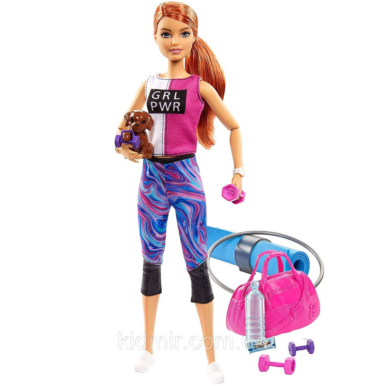 Кукла Барби Фитнес Активный отдых Релакс Barbie Fitness GJG57