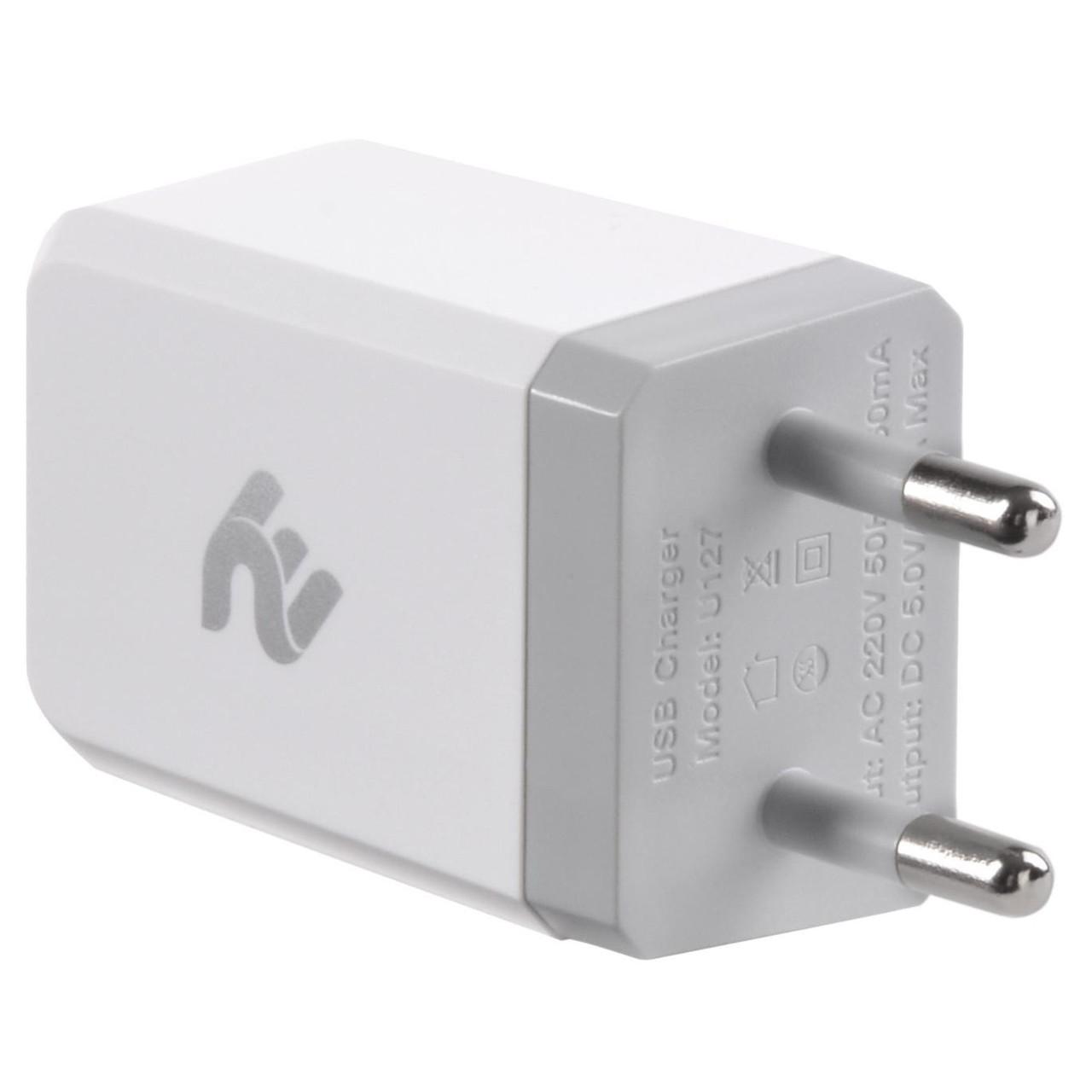 Зарядний пристрій 2E USB Wall Charger USB:DC5V/2.1A, white (2E-WC1USB2.1A-W)