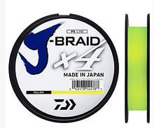 Шнур Daiwa J-Braid X4 0.10mm 3.8kg -135m yellow
