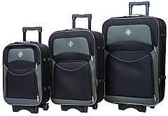 Набір валіз Bonro Style 3 штуки чорно-сірий (10010305)