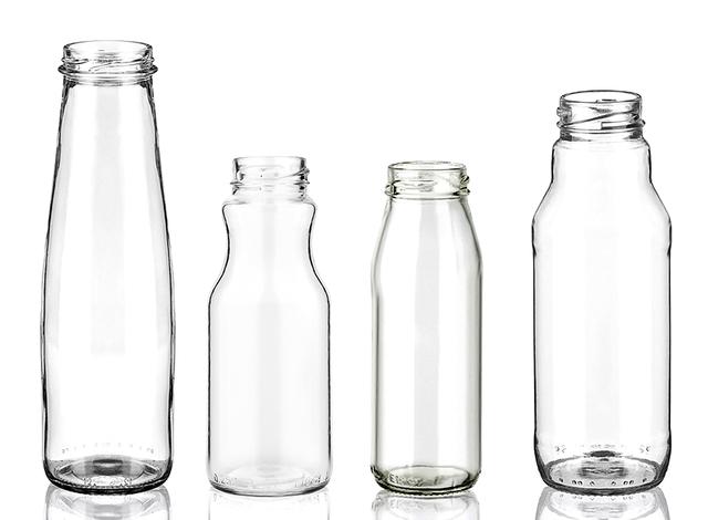 Стеклянные бутылки для сока
