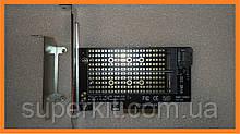 PCI-E x4 - M.2 ( NVMe / NGFF ) SSD универсальный переходник адаптер + низкопрофильная планка