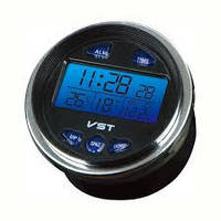 Авточасы аксессуар для салона авто VST 7042 V LCD-экран с синей подсветкой (термометр, вольтметр)