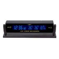 Авточасы аксессуар для салона авто VST 7013V LCD с синей подсветкой (датчик , автомобильный ЗУ 12V)