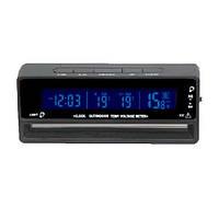 Авточасы аксессуар для салона авто VST 7010V LCD-дисплей с синей подсветкой (датчик,автомобильный ЗУ 12v)