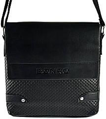 Сумка чоловіча Bonro через плечі чорна Model 2 (14000001)