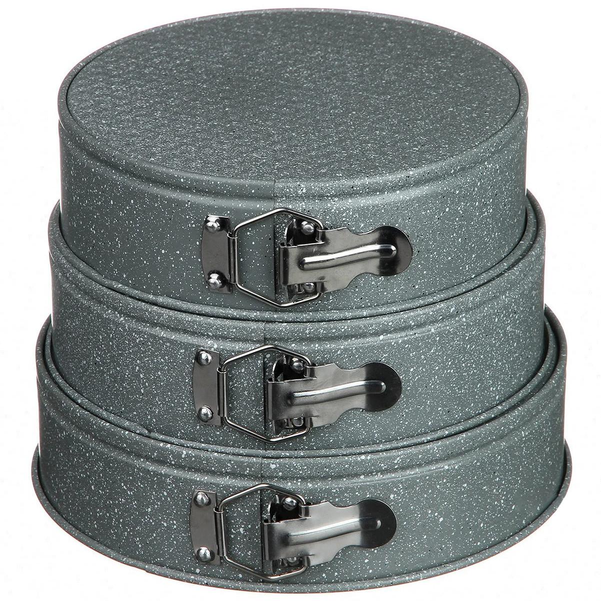 Формы для выпечки разьемные A-PLUS 3 шт мраморное покрытие
