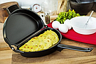 Двойная сковорода для омлета Folding Omelette Pan | Омлетница с антипригарным покрытием, фото 8