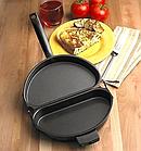 Двойная сковорода для омлета Folding Omelette Pan | Омлетница с антипригарным покрытием, фото 9
