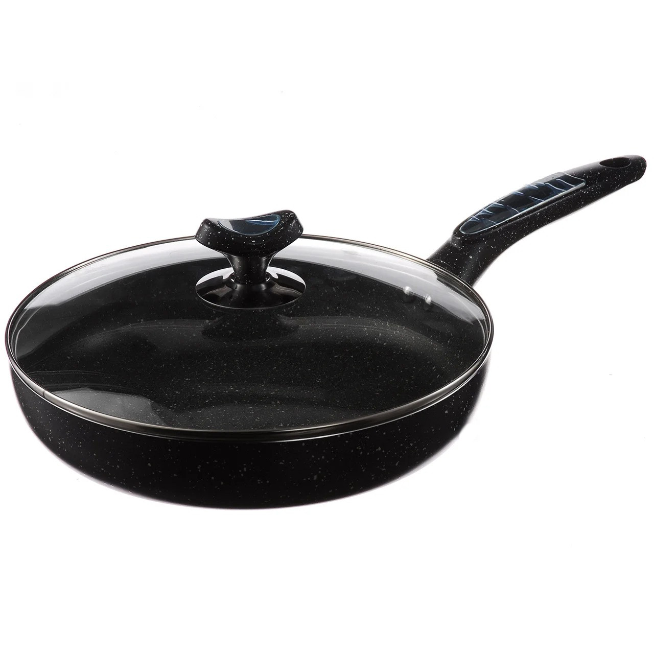 Сковорода с крышкой A-PLUS 26 см сковородка мраморное покрытие