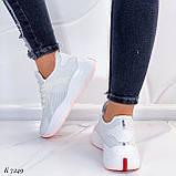 ТОЛЬКО 37, 39 р! Женские кроссовки белые текстиль+ эко кожа  на платформе, фото 2