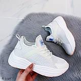 ТОЛЬКО 37, 39 р! Женские кроссовки белые текстиль+ эко кожа  на платформе, фото 7