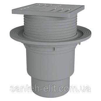 Трап ANI Plast TA1712 вертикальный с нержавеющей решеткой 150х150
