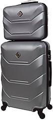 Комплект валіза і кейс Bonro 2019 маленький срібний (10501002)