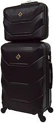 Комплект валіза і кейс Bonro 2019 маленький чорний (10501007)