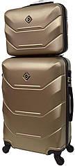 Комплект валіза і кейс Bonro 2019 маленький шампань (10501008)