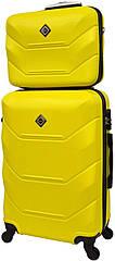 Комплект валіза і кейс Bonro 2019 середній жовтий (10501100)