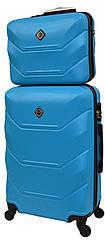 Комплект валіза і кейс Bonro 2019 середній голубий (10501103)