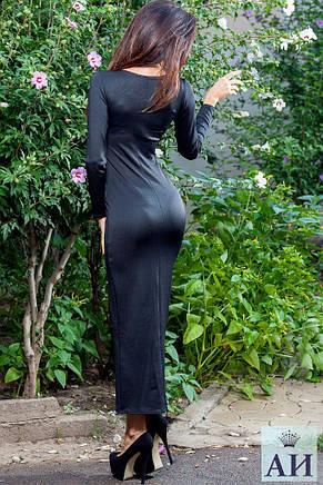 Платье длинное дайвинг на длинной змейке , фото 2