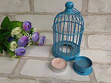 Металлический подсвечник в голубом цвете h-16 см, 150 грн