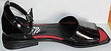 Босоножки кожаные черные от производителя модель КЛ1011, фото 3