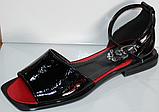 Босоножки кожаные черные от производителя модель КЛ1011, фото 2