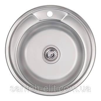 Кухонная мойка 490-A Satin (0,6 мм)