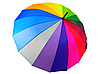 Зонт трость женский Rainbow Max Komfort полуавтомат Anti wind, фото 7