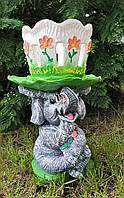 """Садово-парковая подставка для цветов """"Слон"""", 43 см"""