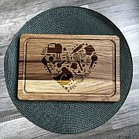 Кухня - сердце дома разделочная доска, доска для подачи из дуба 03