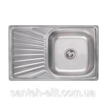 Кухонная мойка Lidz 7848 Satin 0,8 мм (LIDZ7848SAT)