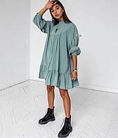 Платье женское стильное белое, оливка, беж