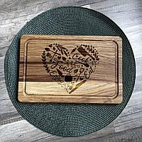 Кухня - сердце дома разделочная доска, доска для подачи из дуба 05