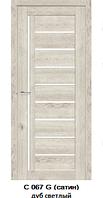 """Межкомнатные двери ECO Doors Smart С067 """"Омис"""" экошпон со стеклом 60, 70, 80, 90 см"""