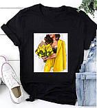 Жіноча футболка з модним малюнком, фото 2