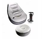 Надувной диван Air Sofa | Надувное велюровое кресло с пуфиком, фото 3