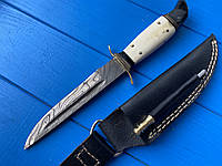 Нож финка из дамасской стали НКВД 1 + точилка ручная работа  С клеймом