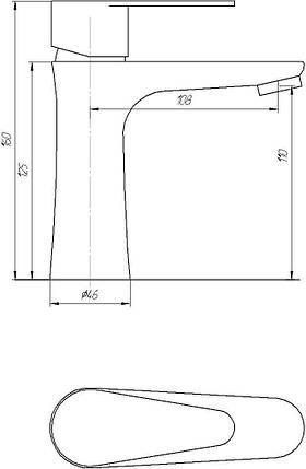 Змішувач для раковини GLOBUS LUX НЕРЖАВІЙКА SHM-101M, фото 2