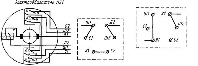 Схема подключения двигателя П21М