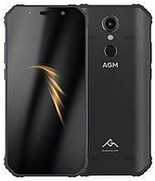 Смартфон черный защищенный, с мощной батареей и функцией нфс на 2 сим карты с CDMA AGM A9 black 4/64Gb