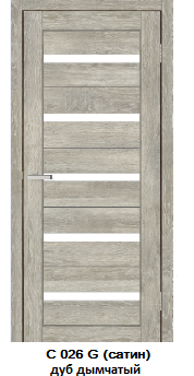 """Межкомнатные двери ECO Doors Smart С026 """"Омис"""" экошпон со стеклом 60, 70, 80, 90 см"""