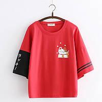 2020 футболка с котом в японском стиле