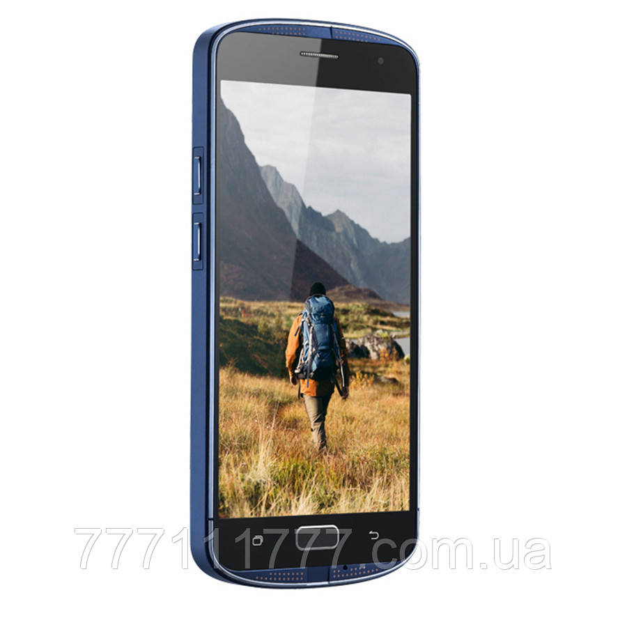 Смартфон противоударный с батареей большой емкости и функцией нфс на 2 sim AGM X1 blue 4/64 гб (white box)