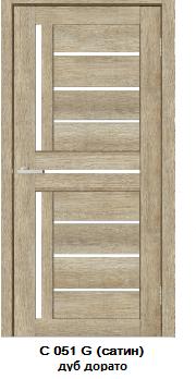 """Межкомнатные двери ECO Doors Smart С051 """"Омис"""" экошпон со стеклом 60, 70, 80, 90 см"""