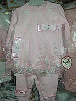 Детский костюм,нарядный костюм,с кружевом и урашен бантиками .62:68см, фото 1