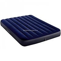 Матрас Intex надувной полуторный велюровый, кровать 137х191х25 см (64758), фото 2
