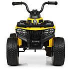 Детский электромобиль Квадроцикл Bambi Racer M 4137EL-6 желтый, фото 2