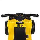 Детский электромобиль Квадроцикл Bambi Racer M 4137EL-6 желтый, фото 4