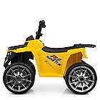 Детский электромобиль Квадроцикл Bambi Racer M 4137EL-6 желтый, фото 5