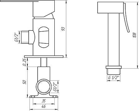 Змішувач для біде TOPAZ САРДИНІЯ-TS 087106-H20, фото 2